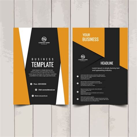 modern brochure design templates modern brochure template vector free