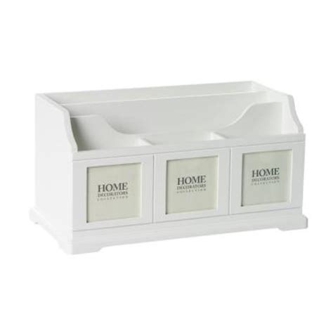 White Desk Organizer Home Decorators Collection 14 In W White Desk Organizer Discontinued 0827400410 The Home