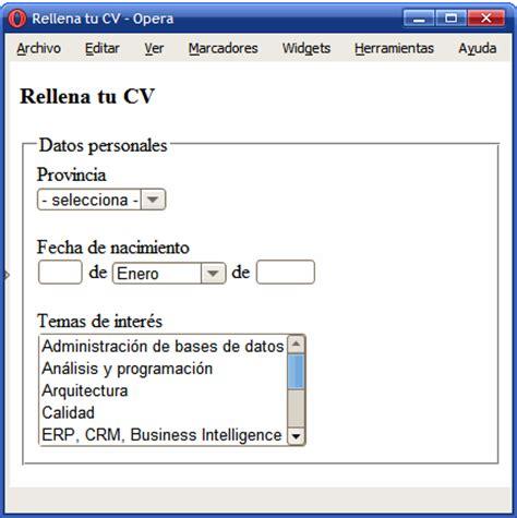www compensar com con formularios 8 4 otros elementos de formulario introducci 243 n a xhtml
