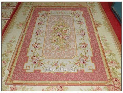 4 x6 needlepoint rug light pink ivory shabby pastel