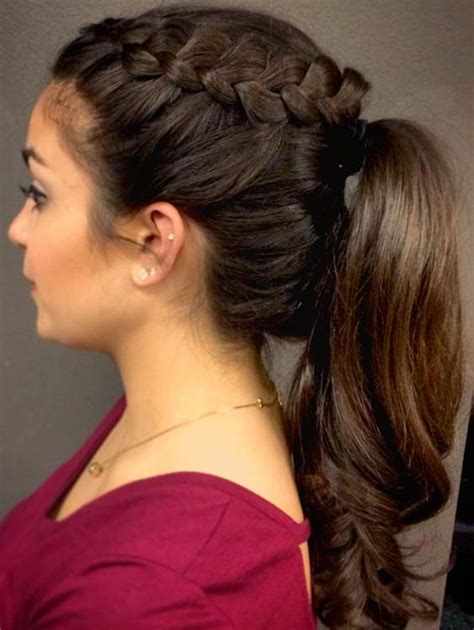 hair long enough for a ponytail high ponytail hairstyles tutorial for long hair flower