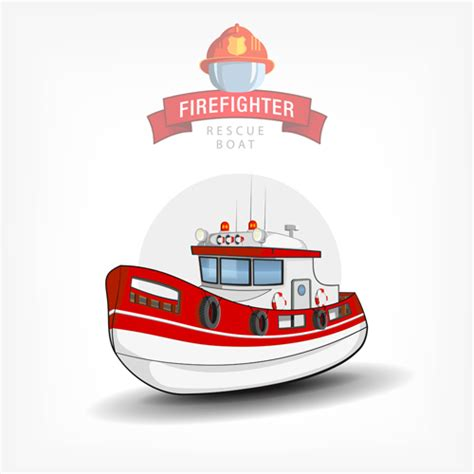 fire boat cartoon cartoon fire boat template vector 01 free download
