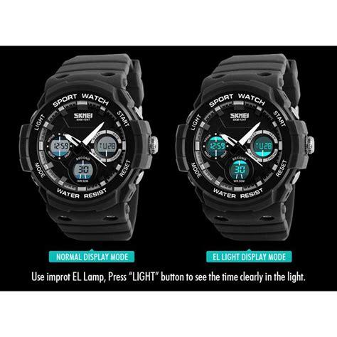 skmei jam tangan digital analog pria ad1247 gray jakartanotebook