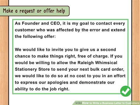Formal Letter To Customer