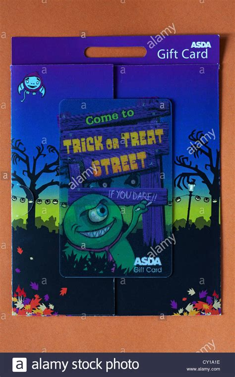 Buy Asda Gift Card - asda halloween gift card isolated on orange background stock photo royalty free image