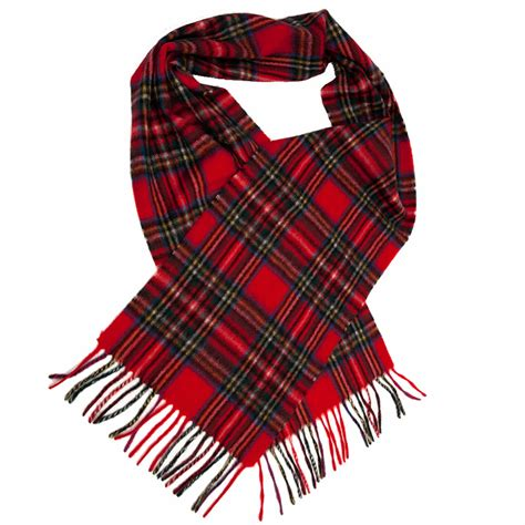 gretna green 100 scarf in royal stewart tartan
