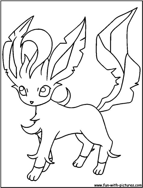 pokemon coloring pages of leafeon eevee print out coloring pages