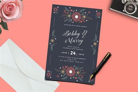 Marriage Menu Card Design