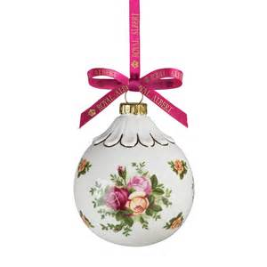 royal albert 8479024566 old country roses holiday bauble