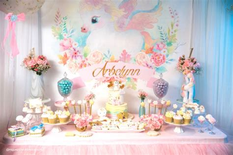 Valentine S Day Table Centerpieces by Real Event Baby Unicorn 1st Birthday Party