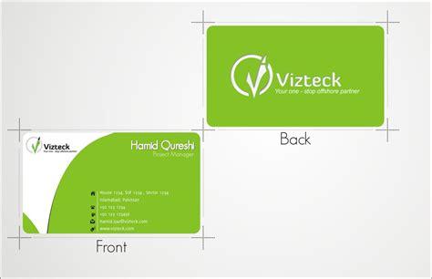 design is solution vizteck solution vcard design by hamidqureshi on deviantart