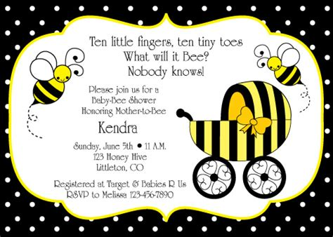 Bumble Bee Baby Shower Invitation Birthday Party Ideas Bumble Bee Invitation Template Free