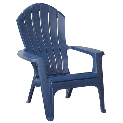 realcomfort midnight patio adirondack chair     home depot