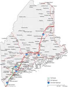Map Of The State Of Maine by Maine