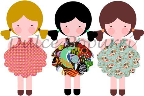 dibujos infantiles vectorizados mu 241 ecas dulce popurr 237 dibujos infantiles pinterest