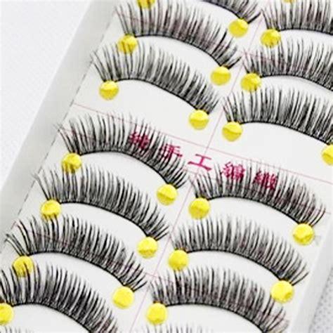 Bioaqua False Eyelashes 10 Pairs 1 10 pairs 100 handmade thick false eyelashes mink eyelash extensions eye lashes voluminous