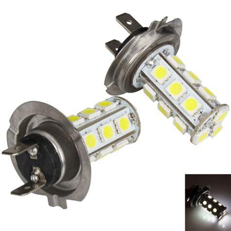 Led Auto Bulbs Car Lights H7 18 Smd Led Car Fog Headlight Light Bulbs White Pair Alex Nld