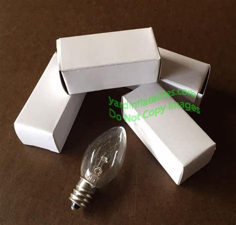 replacing lights in inflatables 5 c7 5 watt bulbs