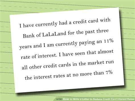 Letter Of Credit Rates how to write a letter to reduce credit card interest rates