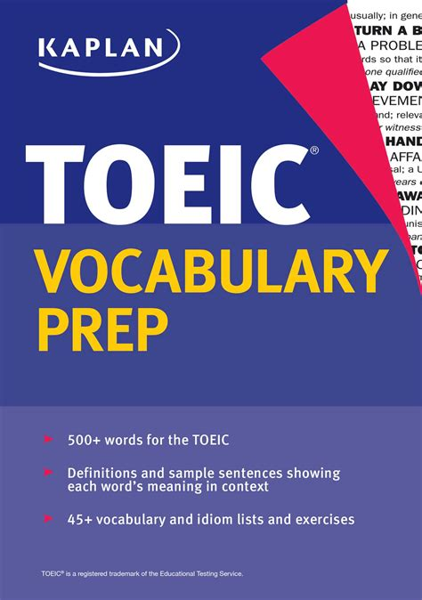 vocabulary picture book kaplan toeic vocabulary prep book by kaplan test prep
