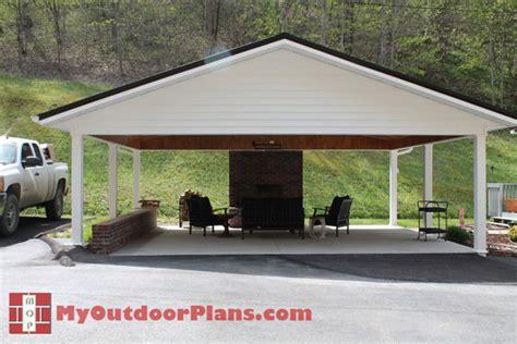 diy double carport myoutdoorplans  woodworking