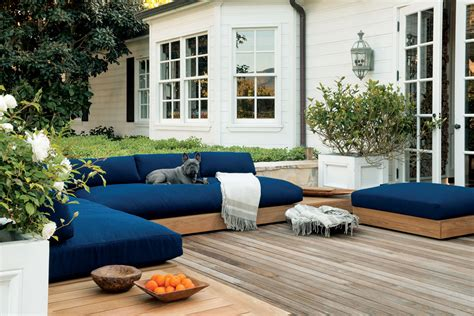teak outdoor sectional sofa by malibu