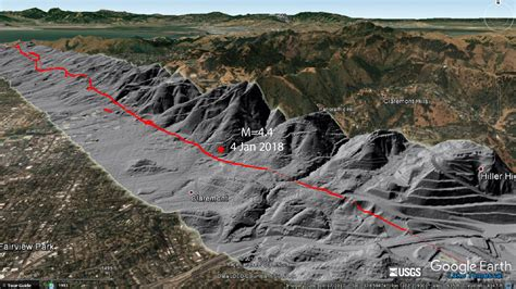 earthquake fault largest hayward fault earthquake since 1981 raises