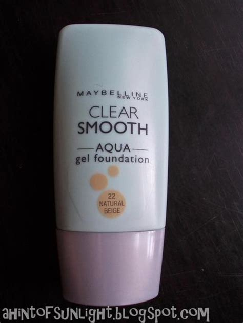 Maybelline Aqua Gel Foundation maybelline clear smooth aqua gel foundation in