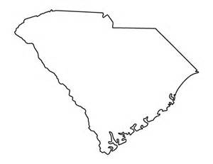 South Carolina Map Outline by South Carolina Stencils And Templates On