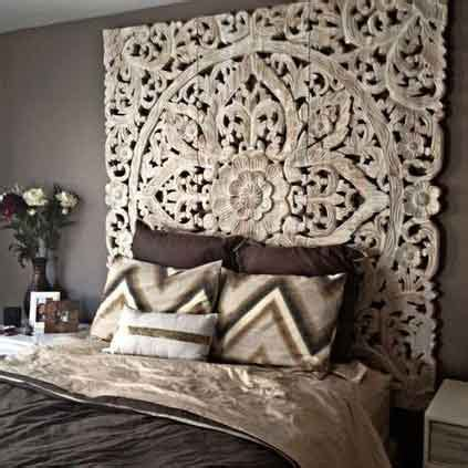 balinese carved wood bed headboard siam sawadee