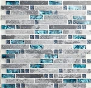Mosaic Glass Backsplash Kitchen mosaic grey stone marble blend glass mosaic sgmt026 kitchen backsplash