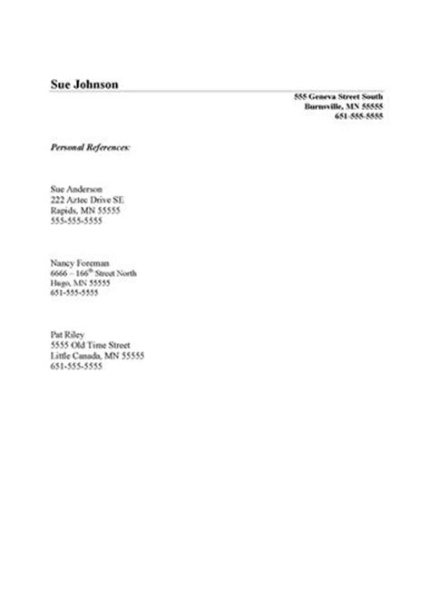 List Of Reference Letter Format Cap Systems Reference Lists White Lake Mn