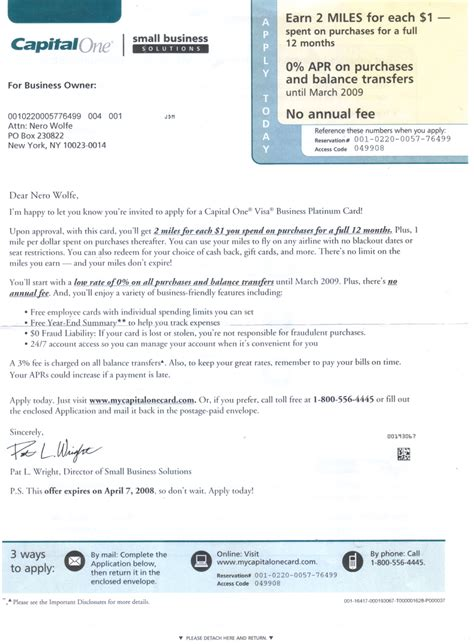 Insurance Credit Letter credit card capital one