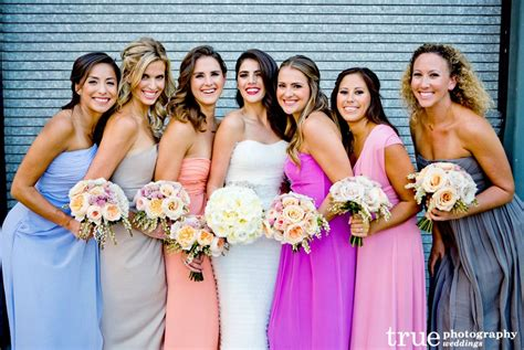 multi colored bridesmaid dresses mix matched and multi colored bridesmaid dresses from