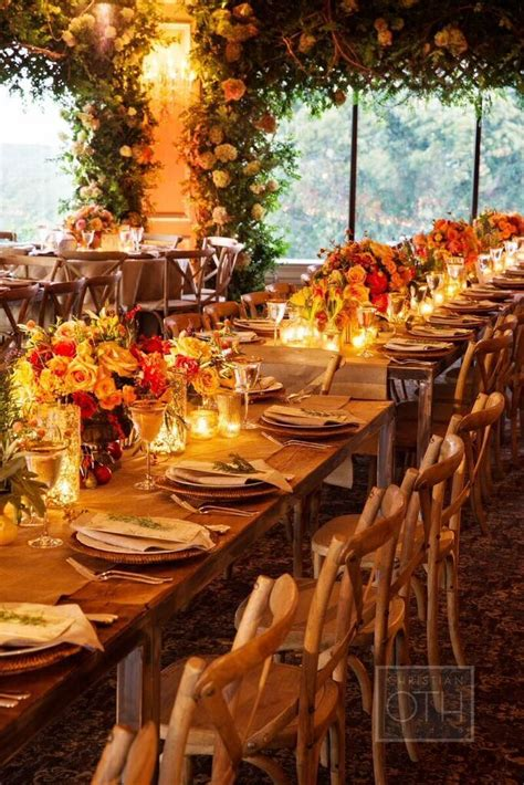 autumn themed new york wedding at oheka castle receptions wedding reception ideas and