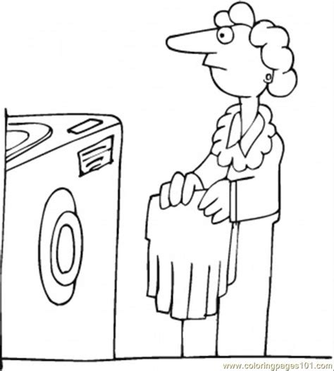 Kids Washing Dishes Coloring Pages Washing Coloring Page