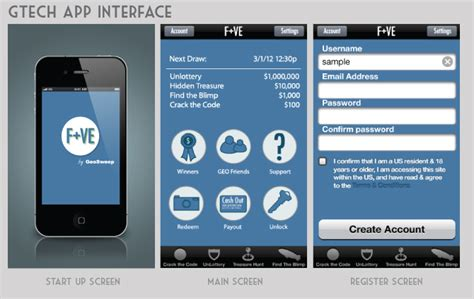 design application interface lottery app interface designs by corey clark