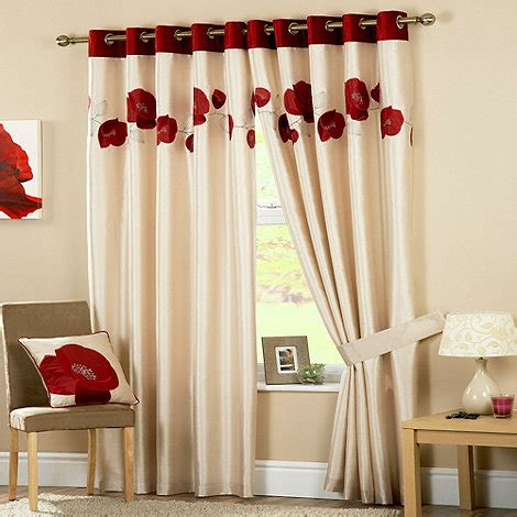 danielle eyelet curtains curtina danielle red lined eyelet curtains debenhams