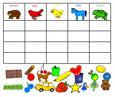sort colors brown color sort what i learned in kindergarten