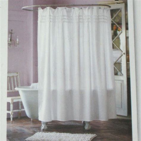 shower curtain shabby chic simply shabby chic white ruffled shower curtain target