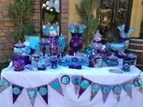 purple and blue buffet oak temecula ca purple teal peacock theme