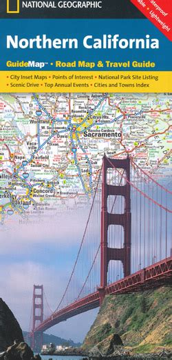 california map book northern california map national geographic folded maps