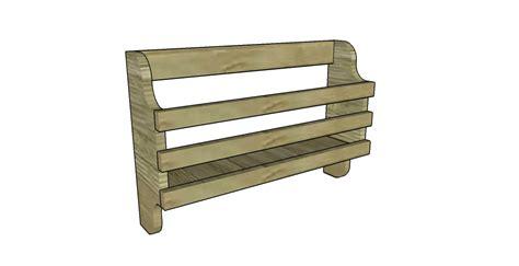 Magazine Rack Plans by Skateboard Rack Plans Myoutdoorplans Free Woodworking