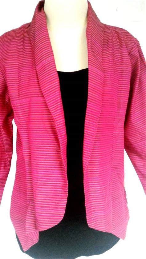 Outer Blazer jual outer semi blazer lurik my lovely collection