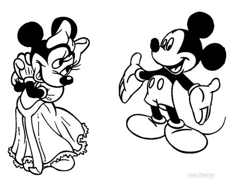 mickey mouse wedding coloring page printable minnie mouse coloring pages for kids cool2bkids