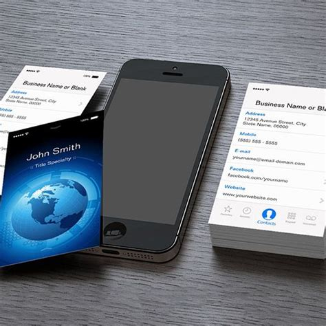 ios business card template customizable information technology cool iphone ios