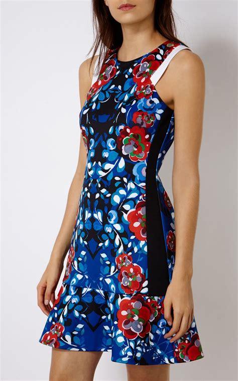 Scuba Dress Floral floral print scuba dress luxury s dresses