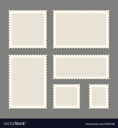 postage stamps template royalty  vector image
