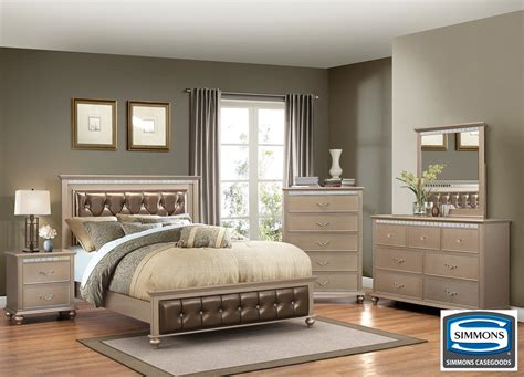hollywood champagne  piece queen bedroom