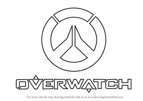 draw logo learn how to draw overwatch logo overwatch step by step